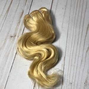 "10"" Remy blonde weft hair piece extensions body"